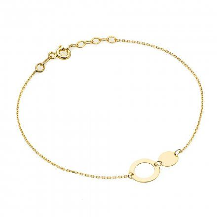 Biżuteria SAXO Złota bransoletka koła 2-25-B00313-0.81
