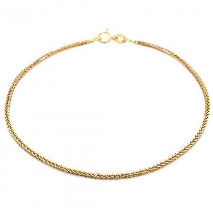 Biżuteria SAXO Złota bransoletka 2-26-B00412-2-0.98 slot lisi ogon diamentowany