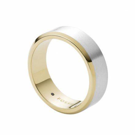 BIŻUTERIA FOSSIL Srebrny Pierścień męski r.22 JF03726998