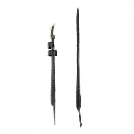 Czarny pasek skórzany 16 mm HIRSCH Duke 01028050OE-1-16 (L)