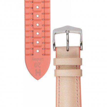 Różowy pasek skórzany 20 mm HIRSCH Lindsey 0922302122-2-20 (M)