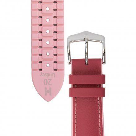 Różowy pasek skórzany 20 mm HIRSCH Lindsey 0922202125-2-20 (M)