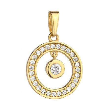 Biżuteria SAXO Zawieszka złote koło z cyrkoniami 6-25-Z00145-1.09