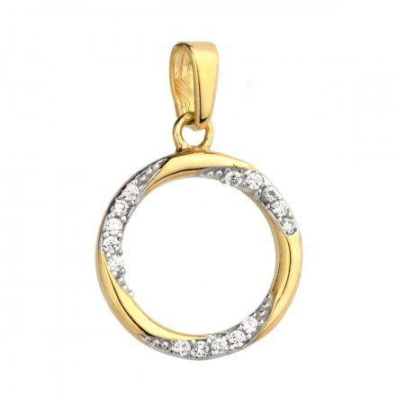 Biżuteria SAXO Zawieszka złote koło z cyrkoniami 6-25-Z00147-1.08