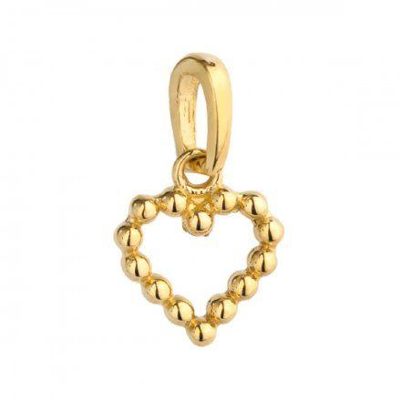 Biżuteria SAXO Zawieszka złota serce kuleczki 6-21-Z00220-0.40