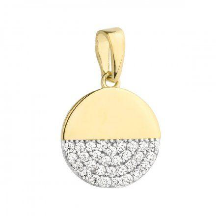 Biżuteria SAXO Zawieszka złote koło wysadzane cyrkoniami 6-21-Z00230-0.90