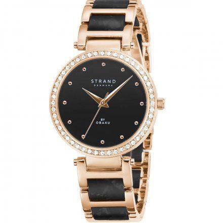 S713LXVBSB Różowozłoty zegarek Damski Strand by OBAKU