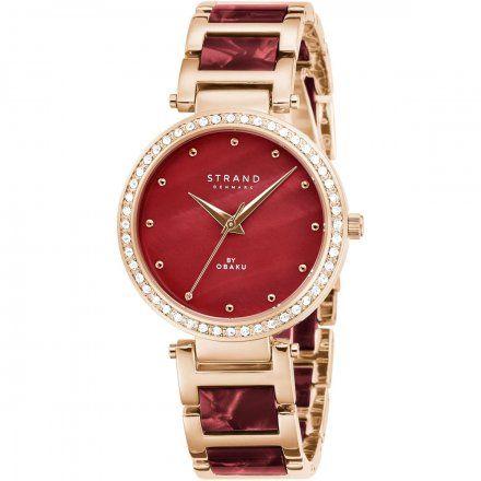 S713LXVDSD Różowozłoty zegarek Damski Strand by OBAKU