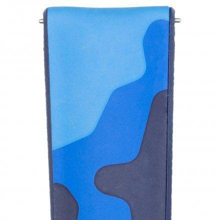 Niebieskie moro pasek skórzany 22 mm HIRSCH John 0928088080-2-22 (L)