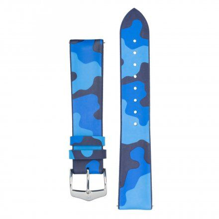 Niebieskie moro pasek skórzany 20 mm HIRSCH John 0928088080-2-20 (L)