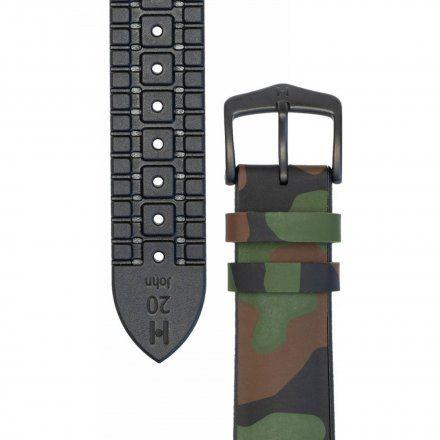 Woodland moro pasek skórzany 20 mm HIRSCH John 0925088040-5-20 (L)