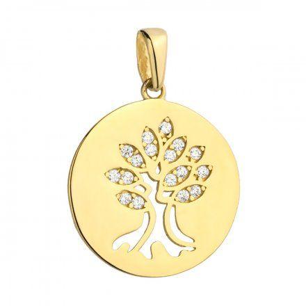 Biżuteria SAXO Zawieszka złota drzewko szczęścia 6-21-Z00235-1.50