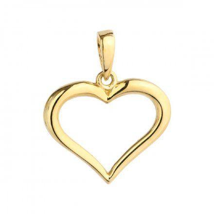 Biżuteria SAXO Zawieszka złota serce kontur 6-25-Z00226-0.59