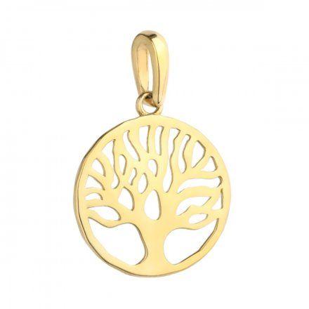 Biżuteria SAXO Zawieszka złota drzewko szczęścia 6-25-Z00227-0.61