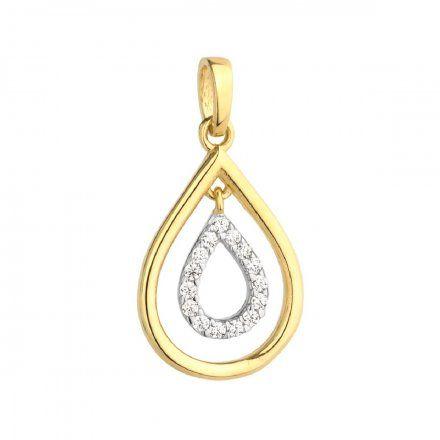 Biżuteria SAXO Zawieszka złote łezki z cyrkoniami 6-25-Z00228-0.90