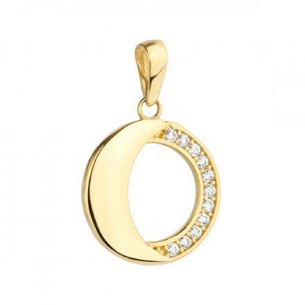 Biżuteria SAXO Zawieszka złote koło wysadzane cyrkoniami 6-25-Z00229-0.74