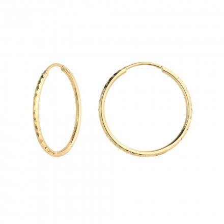 Biżuteria SAXO Kolczyki Złote Koła 7-17-K00489-1.02