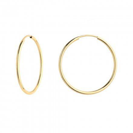 Biżuteria SAXO Kolczyki Złote Koła 7-17-K00483-1.33