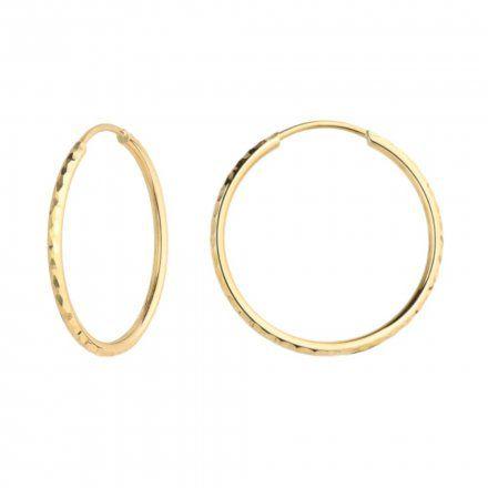 Biżuteria SAXO Kolczyki Złote Koła 7-17-K00684-1.40