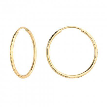 Biżuteria SAXO Kolczyki Złote Koła 7-17-K00490-1.44