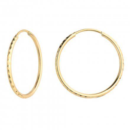 Biżuteria SAXO Kolczyki Złote Koła 7-17-K00492-1.95