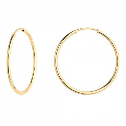 Biżuteria SAXO Kolczyki Złote Koła 7-17-K00516-2.13