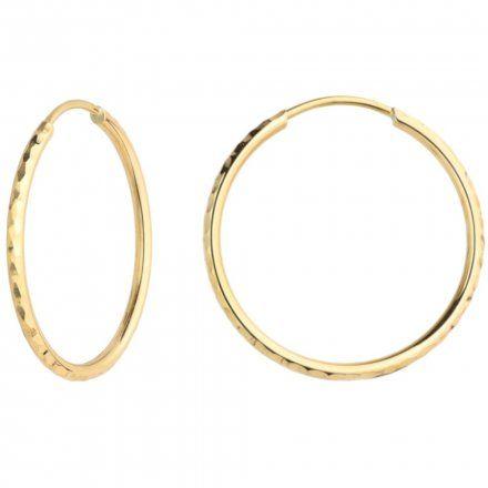 Biżuteria SAXO Kolczyki Złote Koła 7-17-K00493-2.33