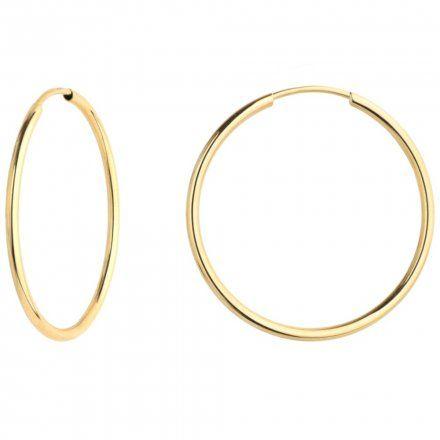 Biżuteria SAXO Kolczyki Złote Koła 7-17-K00515-2.38