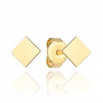 Biżuteria SAXO Kolczyki Złote Kwadraciki 7-3-K00578-0.52