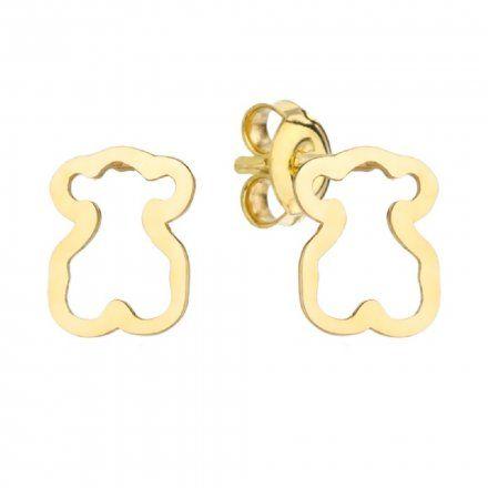 Biżuteria SAXO Kolczyki Złote Misie 7-4-K00198-0.63