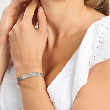 Biżuteria Guess damska bransoletka srebrna Golden Hour UBB70141-S