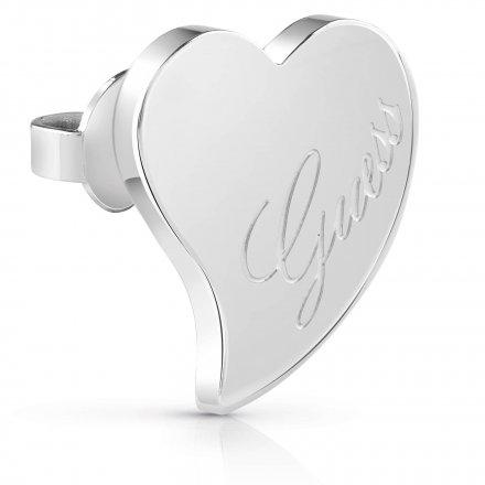 Biżuteria Guess kolczyki srebrne Guess Love UBE28046