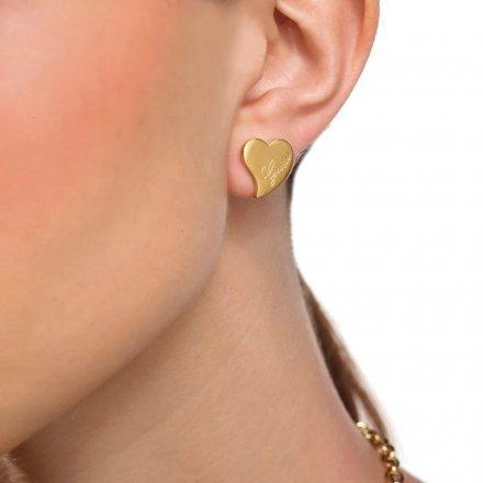Biżuteria Guess kolczyki złote Guess Love UBE28047