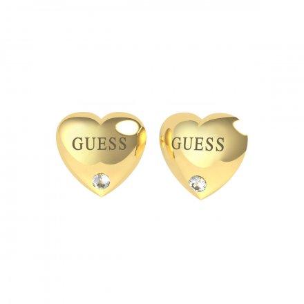 Biżuteria Guess kolczyki złote Guess Is For Lovers UBE70105
