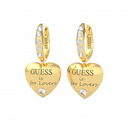 Biżuteria Guess kolczyki złote Guess Is For Lovers UBE70111