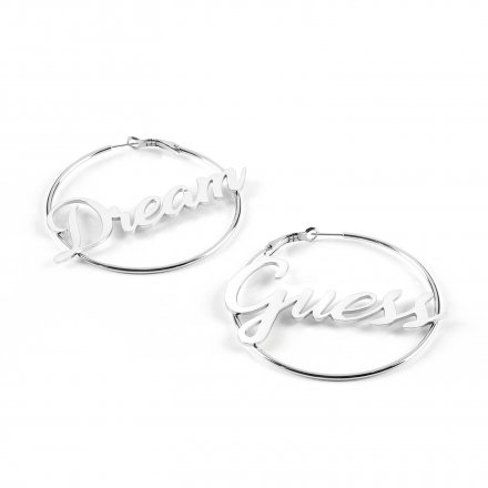 Biżuteria Guess kolczyki srebrne koła Dream&Love UBE70130