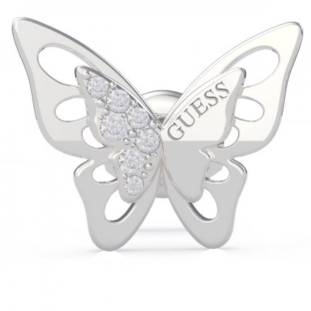 Biżuteria Guess kolczyki srebrne Fly Away UBE70184