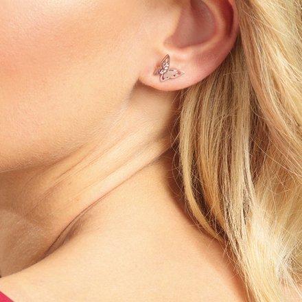 Biżuteria Guess kolczyki różowe złoto Fly Away UBE70185