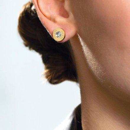 Biżuteria Guess kolczyki złote Shiny Crystals UBE78095