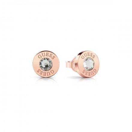 Biżuteria Guess kolczyki różowe złoto Shiny Crystals UBE78099