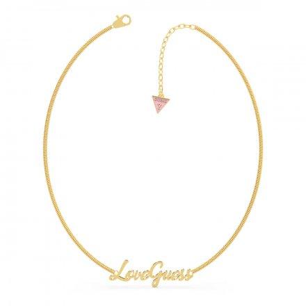Biżuteria Guess naszyjnik złoty Dream&Love UBN70049