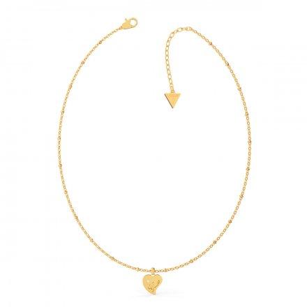 Biżuteria Guess naszyjnik złoty Queen Of Heart UBN79013