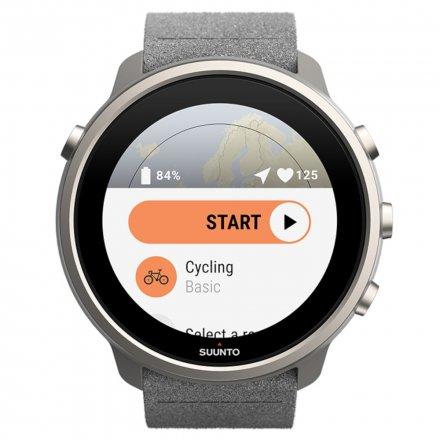 Suunto Zegarek Smartwatch SS050567000 Suunto 7 Matte Gray Titanium HR WEAR OS