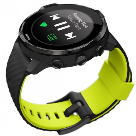 Suunto Zegarek Smartwatch SS050379000 Suunto 7 Black Lime HR WEAR OS