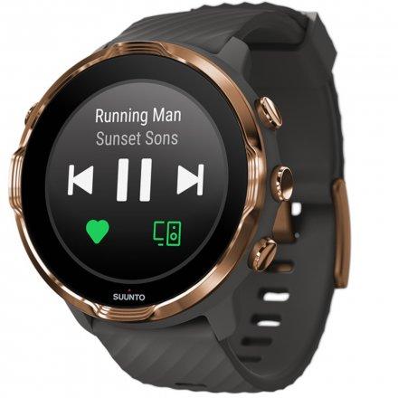 Suunto Zegarek Smartwatch SS050382000 Suunto 7 Graphite Copper HR WEAR OS