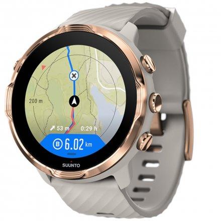 Suunto Zegarek Smartwatch SS050381000 Suunto 7 Sandstone Rosegold HR WEAR OS