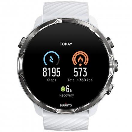 Suunto Zegarek Smartwatch SS050380000 Suunto 7 White Burgundy HR WEAR OS