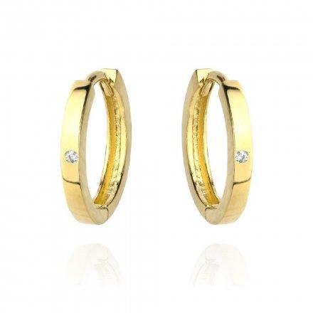 Biżuteria SAXO Kolczyki Złote Koła z cyrkonią 7-25-K00629-1.15