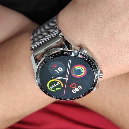 Smartwatch Garett GT24S RT srebrny z bransoletą