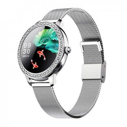 Smartwatch Garett Lady Kate RT srebrny z bransoletą